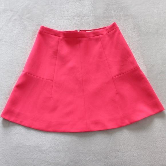 815593df833fc5 J. Crew Factory Skirts | Jcrew Factory Flare Skirt Sz 2 Bright Pink ...